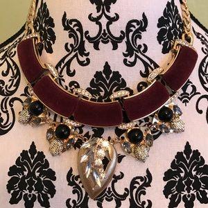 NWT BEBE necklace bling velvet